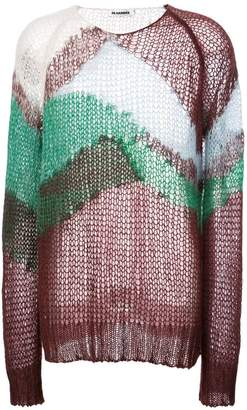 Jil Sander colour-block oversized sweater