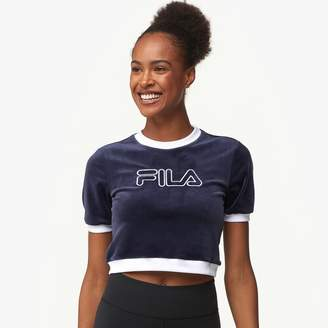 3a78cc2a821 Fila Emiliana Velour Ringer T-Shirt - Women s