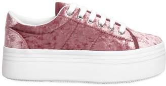 40mm Zomg Velvet Platform Sneakers