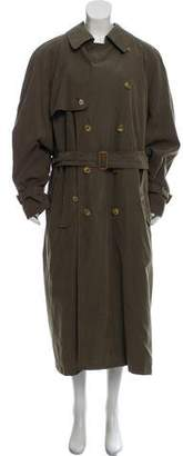 Burberry Wool Double-Breasted Trench Coat