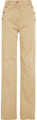 J.Crew - Sailor Cotton-twill Wide-leg Pants - Beige $100 thestylecure.com