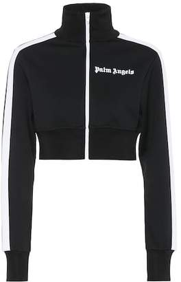 Palm Angels Cropped jersey track jacket