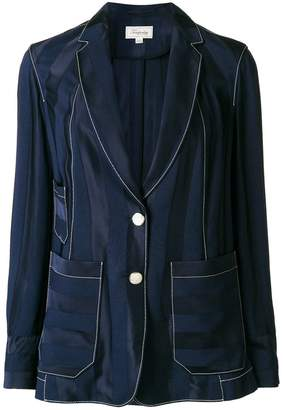 Temperley London striped relaxed blazer