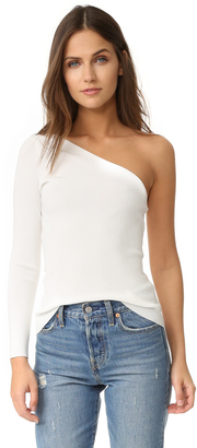 Elizabeth and James Amanda One Shoulder Knit Top $295 thestylecure.com