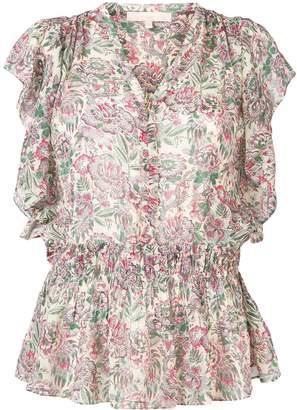Vanessa Bruno ruffle trim peplum blouse