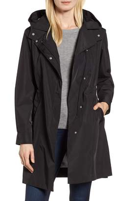 11e9f397a87 Kristen Blake Tech Hooded Trench Coat