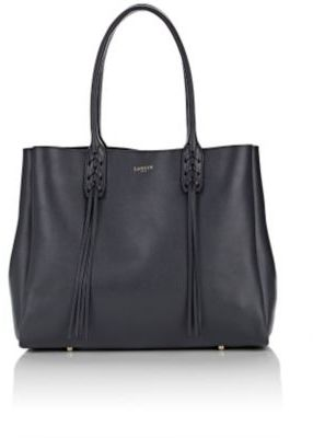 Lanvin Women's Tasseled-Handle Small Shopper Tote-GREY $1,550 thestylecure.com