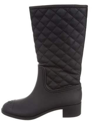 Chanel CC Rubber Rain Boots