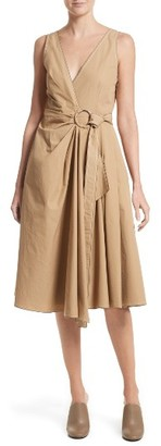 Women's Derek Lam 10 Crosby Pleated Wrap Dress $425 thestylecure.com