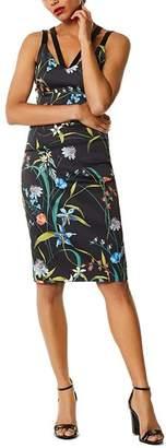 Karen Millen Strappy Floral Print Sheath Dress