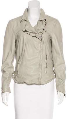 Muu Baa Muubaa Leather Zip-Up Jacket