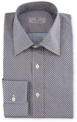 Canali Basketweave Cotton Dress Shirt