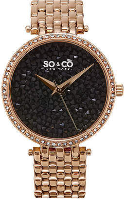 SO & CO So & Co Womens Rose Goldtone Bracelet Watch-Jp16298 WfVWR
