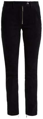 The Row - Smashton Skinny Suede Trousers - Womens - Navy