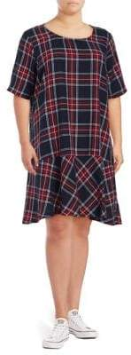 Junarose Plus Maika Plaid Knee-Length Cotton Dress