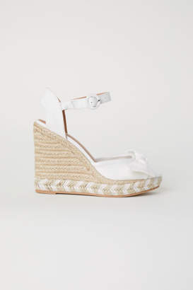 H&M Wedge-heel Sandals - White