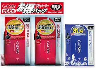 Gatsby 【まとめ買い】 ギャツビー) ボディペーパーバイオコア 徳用30枚×2個パックサンプル付(医薬部外品)