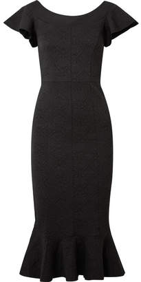 Opening Ceremony Lotus Jacquard Midi Dress - Black