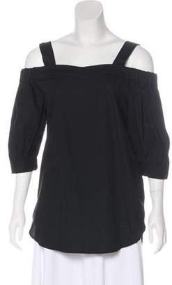 Timo Weiland Cold-Shoulder Half Sleeve Top