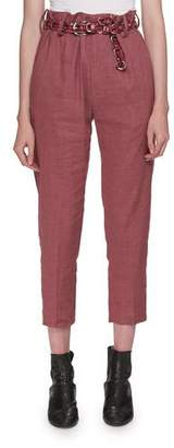 Etoile Isabel Marant Oah Rosewood City High-Waist Cropped Pants