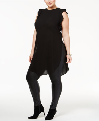 RACHEL Rachel Roy Trendy Plus Size Ruffled Tunic $115 thestylecure.com