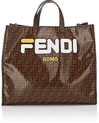 Fendi Women's Shopping Large Coated Canvas Tote Bag