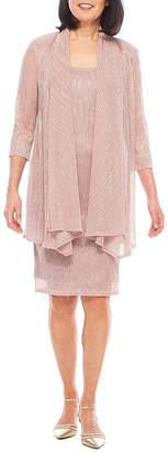 R & M Richards R&M Richards 3/4 Sleeve Crinkle Jacket Dress