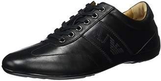 Armani Jeans Men's Leather City Fashion Sneaker