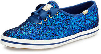 kate spade new york x Keds glitter lace-up sneaker $85 thestylecure.com