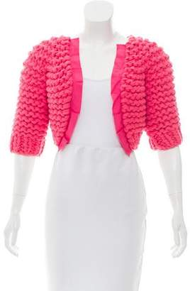 Nina Ricci Open Front Knit Shrug