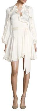 Zimmermann Winsome Silk Ruffle Wrap Dress $630 thestylecure.com
