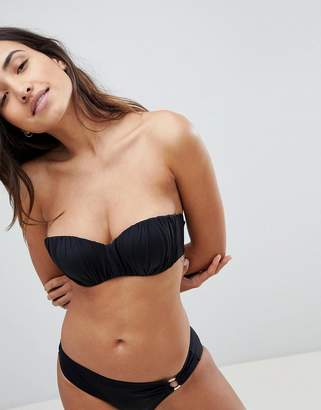 Dorina Pleated Bikini Top