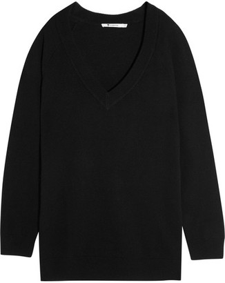 T by Alexander Wang - Oversized Wool And Cashmere-blend Sweater - Black $325 thestylecure.com
