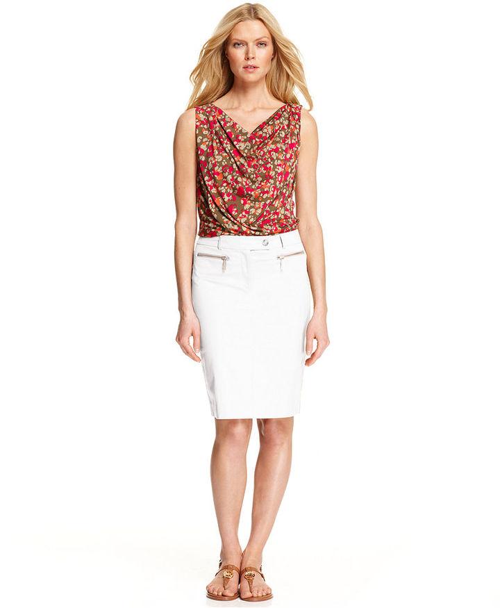 MICHAEL Michael Kors Skirt, Zipper Pencil