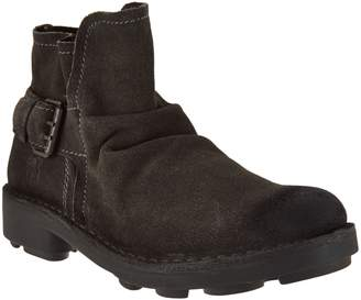 Fly London Leather Ankle Boots w/ Buckle Detail - Neba