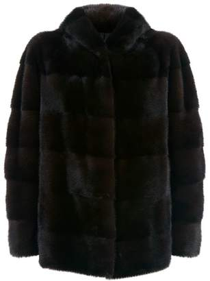 Lilly E Violetta Hooded Mink Fur Jacket