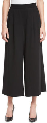 Eileen Fisher Woven Tencel® Grain Wide-Leg Cropped Pants $198 thestylecure.com