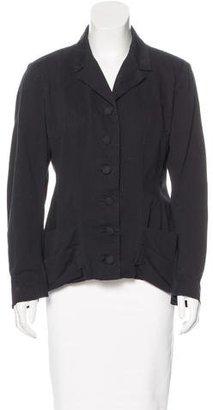 Yohji Yamamoto Notch-Lapel Button-Up Blazer $125 thestylecure.com
