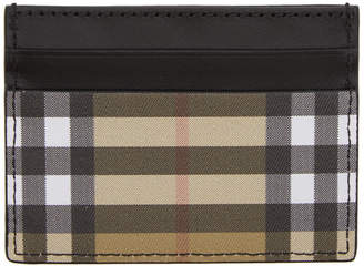 Burberry Black Vintage Check Card Holder