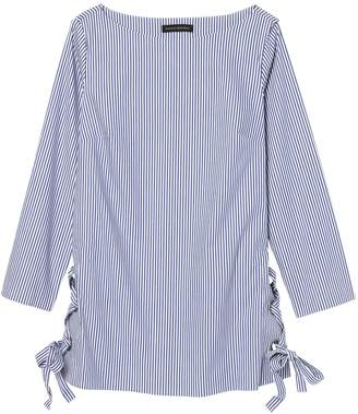 Banana Republic Petite Stripe Lace-Up Tunic with Grommet Details