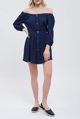 Blu Pepper Off-the-Shoulder Knit Dress