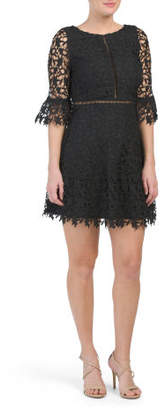 Juniors All Over Lace A Line Dress