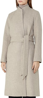 REISS Elias Belted Wool-Blend Coat $660 thestylecure.com