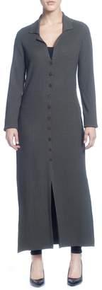 Catherine Malandrino Rib Knit Long Sleeve Duster Sweater