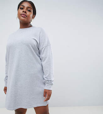 Missguided Plus sweater dress in gray