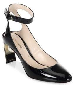 Nicholas Kirkwood Lola Pearl Patent Leather Ankle Strap Pumps
