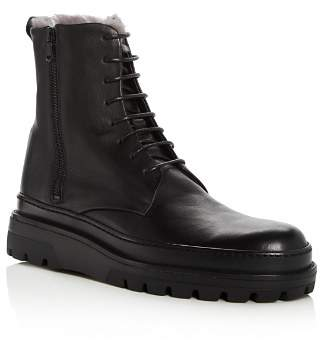 Vince Men's Edgar Leather & Shearling Lace Up Boots