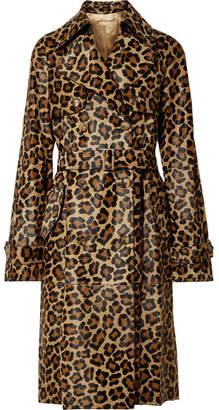Michael Kors Leopard-print Calf Hair Trench Coat - Leopard print