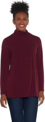Susan Graver Modern Essentials Liquid Knit Turtleneck Top