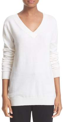 VINCE. Cashmere V-Neck Sweater $320 thestylecure.com